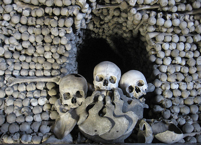 Ossuary, Sedlec, Czech Republic. Wikimedia Commons, CC BY-SA 3.0 License.